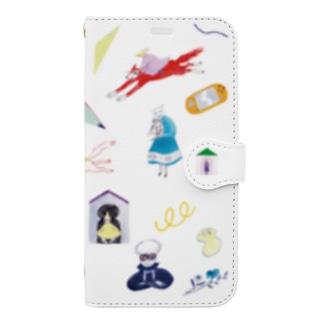 teleport白 Book-style smartphone case