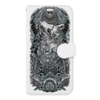 BLACKINK のTAROT - THE MOON. White Book-style smartphone case
