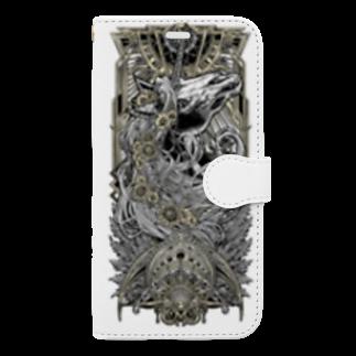 BLACKINK のTAROT - THE SUN. White Book-style smartphone case