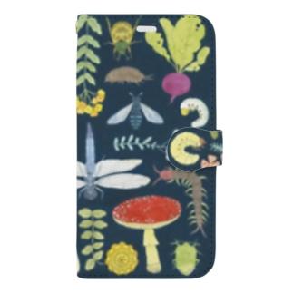むし図 Book-style smartphone case