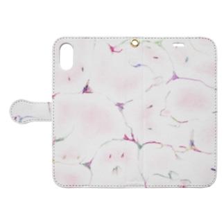 牛乳ビンのマモノ(恋) Book style smartphone case
