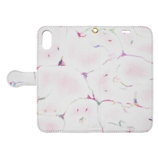 牛乳ビンのマモノ(恋) Book-style smartphone case