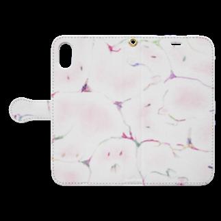 僕の隣人の牛乳ビンのマモノ(恋) Book-style smartphone caseを開いた場合(外側)