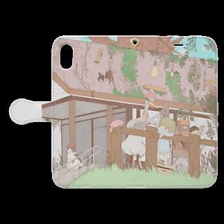 SakiNazunaの手帳型iphoneケース Book style smartphone caseを開いた場合(外側)