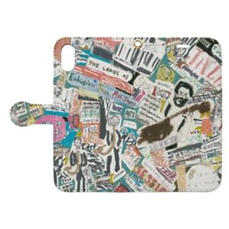 ジャズコラ。 Book-style smartphone case