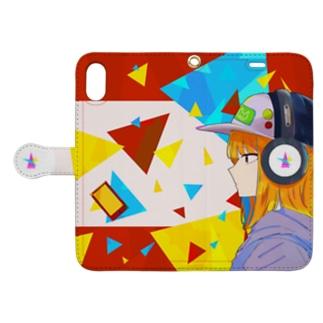 Vivid color music Book-style smartphone case