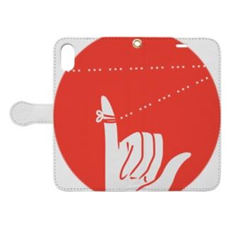 運命の赤い糸は三点リーダ Book-style smartphone case