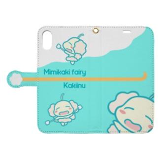 耳かきの妖精カキーヌ Book-style smartphone case