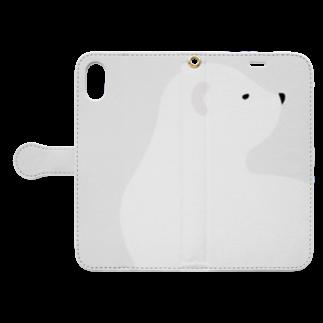 陽のしろいくま Book-style smartphone caseを開いた場合(外側)