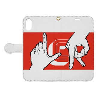 hand sign LCR Book-style smartphone case