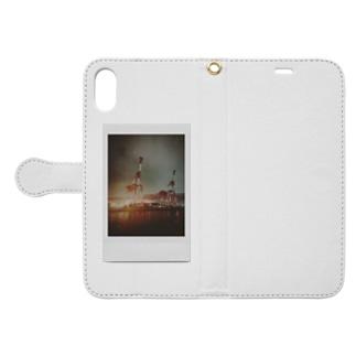 ポラロイド キリン🦒クレーン Book-style smartphone case
