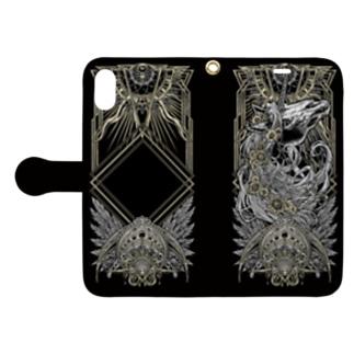 TAROT - THE SUN. Black Book-style smartphone case