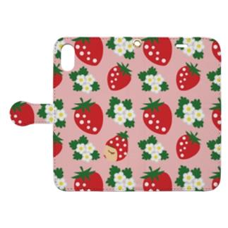 いちご祭り Book-style smartphone case