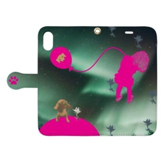 オーロラ少女 Book-style smartphone case