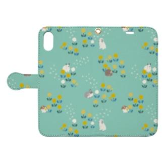 たんぽぽとうさぎさん Book-style smartphone case