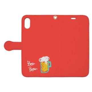 ビール レッド Book-Style Smartphone Case
