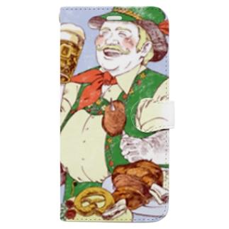世界のおじちゃん「祝杯をあげるハインツ」手帳型ケース Book-style smartphone case