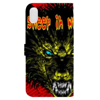 狼の皮を被った羊 Book-style smartphone case