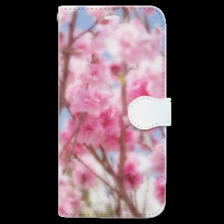 akane_artの八重桜 Book-style smartphone case