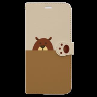 BEARGUNDYのかくれんべあ Book-style smartphone case