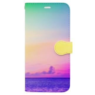 ブドウメローイエロー Book-style smartphone case