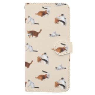 ナナポンファイトスマホケース(ベージュ) Book-style smartphone case