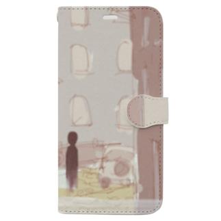 街角の亡霊 Book-style smartphone case