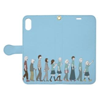 大行進 夏 Book-style smartphone case