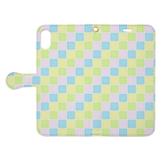 pastel tile - colorful - Book-style smartphone case