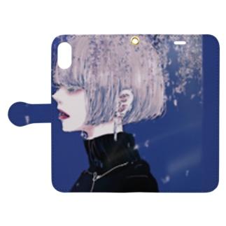 恋夢に酔う。 Book-style smartphone case