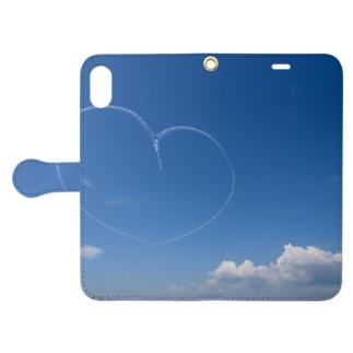 青空ハート Book-style smartphone case