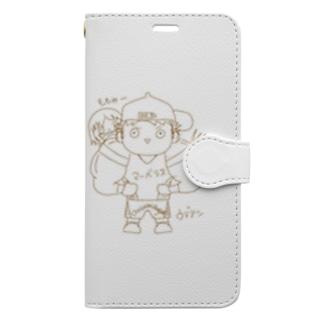 長与 千種 Chigusa Nagayoのウデアシ桃 Book-style smartphone case