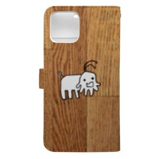 あやふ屋のあやふ屋 木目 Book-style smartphone caseの裏面