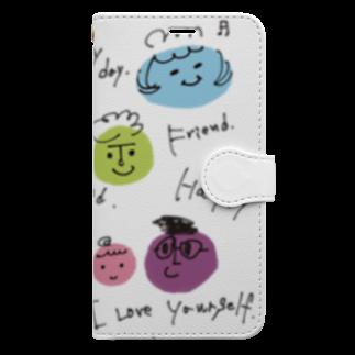 siestaのみんななかよし@Takako Book-style smartphone case