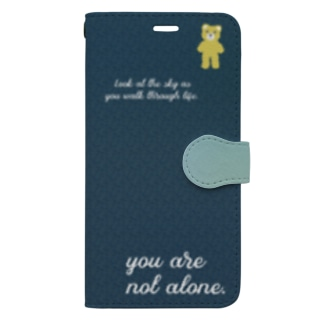 【you are not alone.】(yellow)iPhone 11ProMax/12ProMax Book-style smartphone case