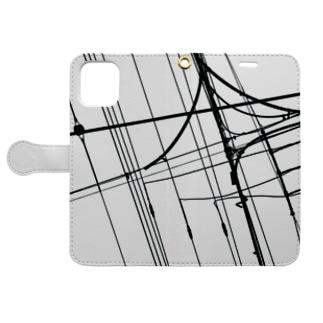 電線12 Book-style smartphone case