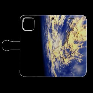 甕邨(ようそん)の惑星 Book-style smartphone caseを開いた場合(外側)