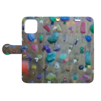 bouldering~素敵な凹凸~ Book-style smartphone case