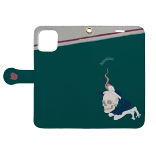 頭蓋骨の精 1 Book-style smartphone case