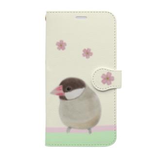 つばめさんと文鳥さん Book-style smartphone case