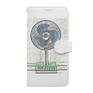 昭和の思い出 『扇風機』 Book-style smartphone case