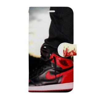 エアジョーダン1  bread Book-style smartphone case
