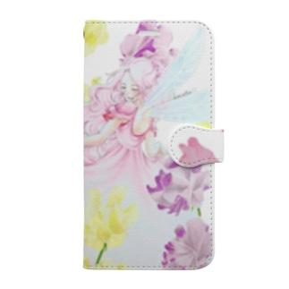 スイートピーの妖精 Book-style smartphone case