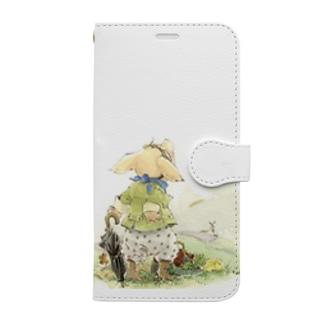可愛いブタさんの飛行士 Book-style smartphone case