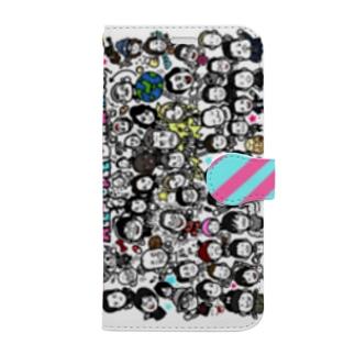 """ラクガキヤぐっず♨︎の""""wall-y""""アエナクテモタイセツナヒトタチ Book-style smartphone case"""