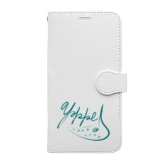 yokkeOcarinaロゴグッズ Book-style smartphone case