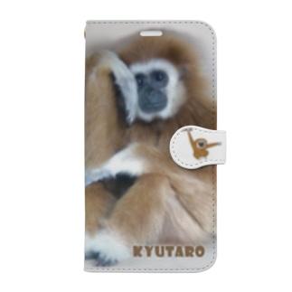 シロテテナガザルのキュータロウ Book-style smartphone case