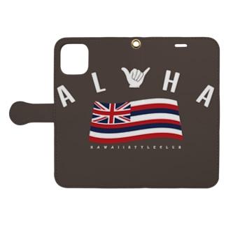 Hawaii Style ClubのAloha Flag Book-style smartphone caseを開いた場合(外側)