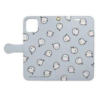 シマエナガいっぱい(手帳型) Book-style smartphone case