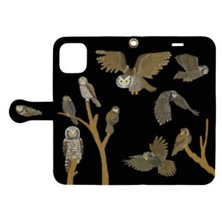 フクロウの夜 Book-style smartphone case